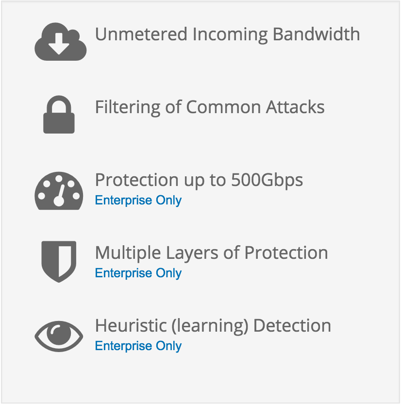DDoS Protection Features